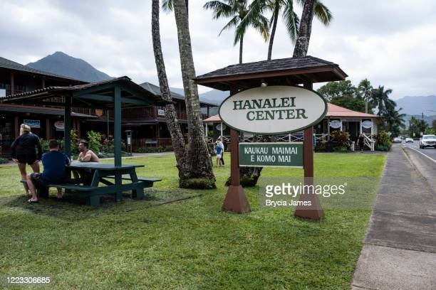 the village of hanalei - brycia james stock pictures, royalty-free photos & images