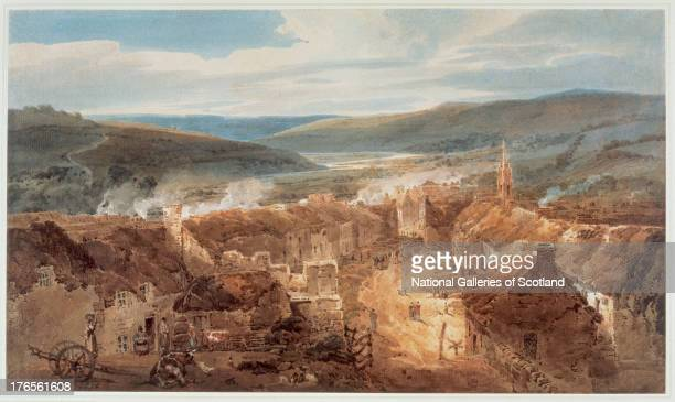 The Village of Jedburgh Roxburgh by Thomas Girtin 1800 Watercolour over pencil on paper Purchased with the aid of the National Heritage Memorial Fund...