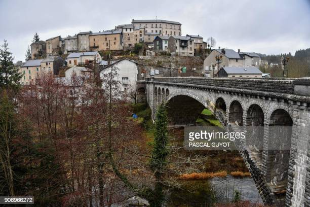 The village of La SalvetatsurAgout between Beziers and Castres southwestern France is pictured on January 11 2018 The allfemale music band 'Les...