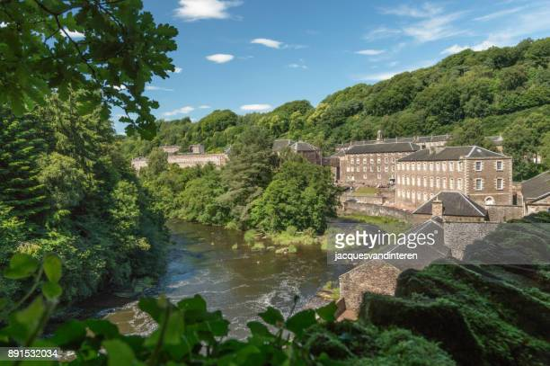 the village of new lanark, near glasgow, scotland - old glasgow stock photos and pictures
