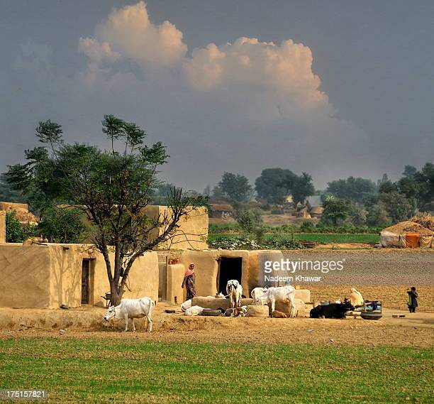 the village of punjab - punjab pakistan stock photos and pictures