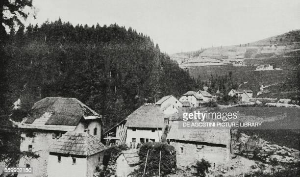 The village of Ronchi di Gallio June 25 Asiago plateau Italy World War I from L'Illustrazione Italiana Year XLIII No 27 July 2 1916