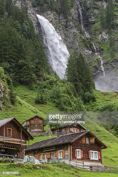 The village of Äsch beneath the Stäubifall