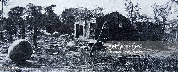 The village of Sonkyori in Korea burnt during the SinoJapanese War in 1894 in the course of the battle which bears its name