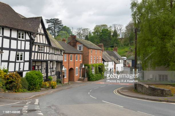 the village of wigmore, herefordshire, england - english culture stock pictures, royalty-free photos & images