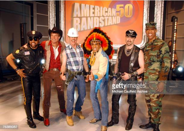 The Village People on stage at the taping of the American Bandstands 50th A Celebration to air on ABC TV on May 3 2002