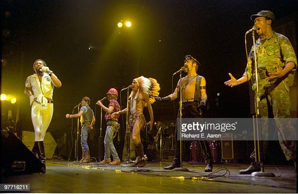 The Village People perform live on stage in new York in 1979 LR Victor Willis Randy Jones David Hodo Felipe Rose Glenn Hughes Alex Briley