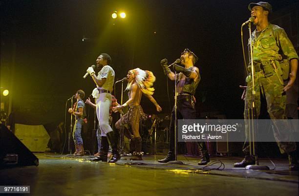 The Village People perform live on stage in new York in 1979 LR Randy Jones Victor Willis Felipe Rose Glenn Hughes Alex Briley