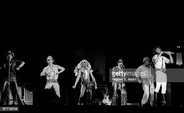 The Village People perform live on stage in new York in 1979 LR Randy Jones David Hodo Felipe Rose Glenn Hughes Alex Briley Victor Willis