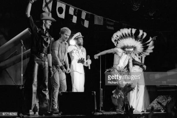 The Village People perform live on stage in new York in 1979 LR Randy Jones David Hodo Victor Willis Felipe Rose