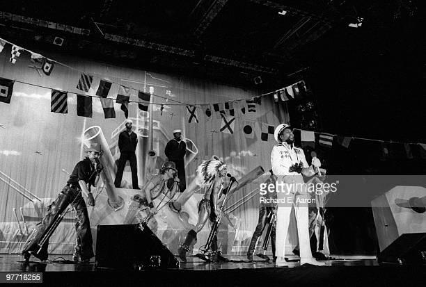 The Village People perform live on stage in new York in 1979 LR Randy Jones David Hodo Felipe Rose Glenn Hughes Victor Willis Alex Briley