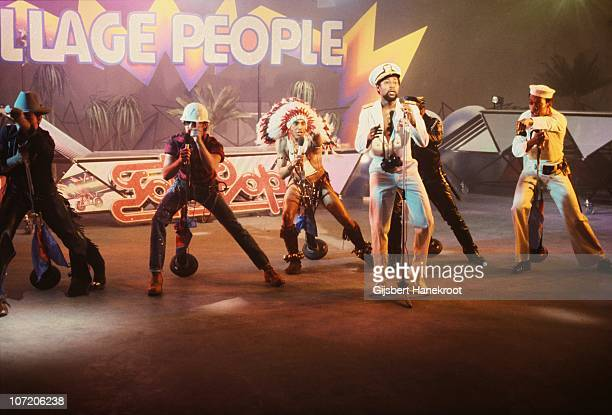 The Village People perform on a TV show in 1978 in Hilversum Netherlands