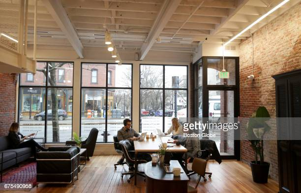 The Village Works a new coworking space in Brookline MA is pictured on Apr 26 2017