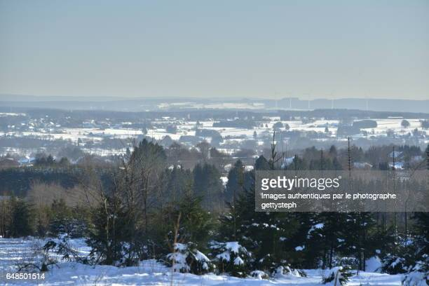 The villages of east Belgium view from Hautes Fagnes-Eifel