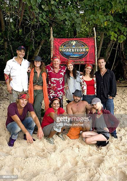 The Villains team on SURVIVOR HEROES VS VILLAINS Rob Mariano Jerri Manthey Randy Bailey Parvati Shallow Danielle DiLorenzo and Benjamin quotCoachquot...