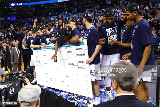 The Villanova Wildcats add their name to the bracket as regional champions after defeating the Texas Tech Red Raiders 7159 in the 2018 NCAA Men's...