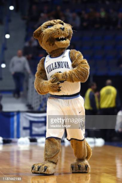 The Villanova Wildcats mascot walks on the court in the first half against the Saint Mary's Gaels during the first round of the 2019 NCAA Men's...