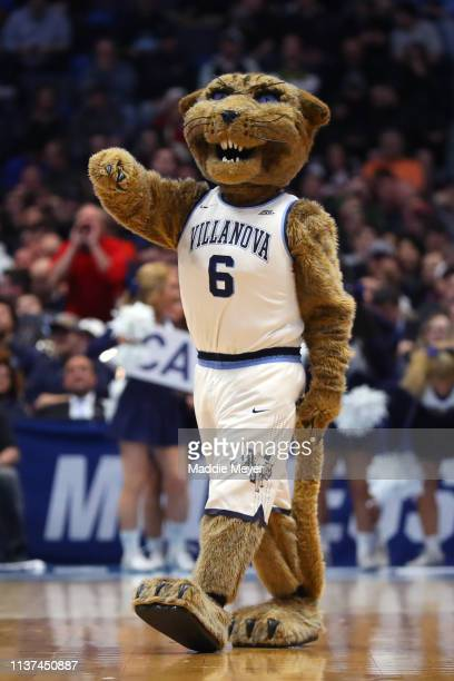 The Villanova Wildcats mascot walks on the court in the second half against the Saint Mary's Gaels during the first round of the 2019 NCAA Men's...
