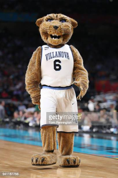 The Villanova Wildcats mascot Will D Cat performs in the first half during the 2018 NCAA Men's Final Four National Championship game between the...