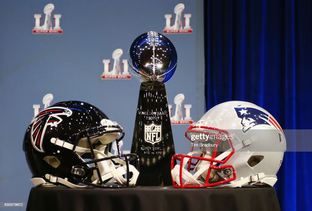 The Vince Lombardi Trophy is seen prior to a press conference with NFL Commissioner Roger Goodell (not pictured) at the George R. Brown Convention Center on February 1, 2017 in Houston, Texas.