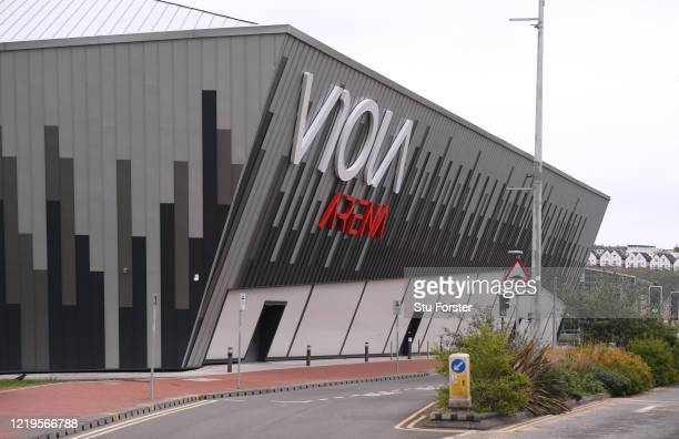 The Viola Arena Ice Rink is seen on April 18, 2020 in Cardiff, Wales. The Coronavirus pandemic has spread to many countries across the world,...