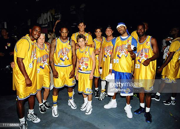 The Violaters Team during 1997 MTV Rock 'n Jock Basketball in Los Angeles California United States