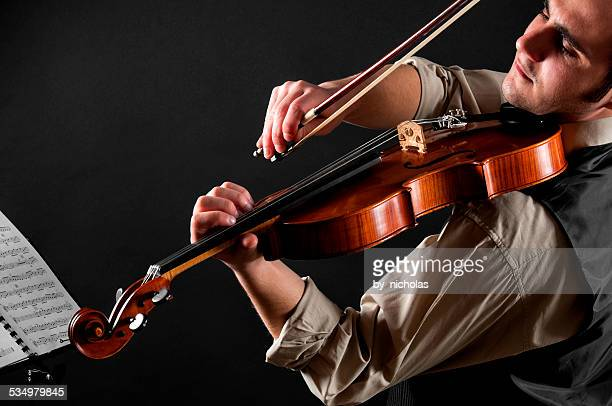 The violinist and his violin