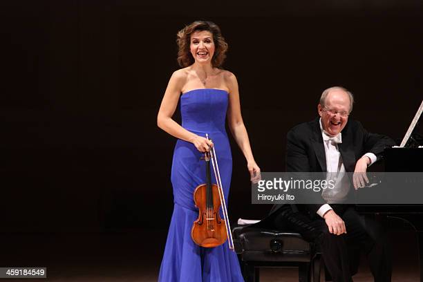 The violinist AnneSophie Mutter and the pianist Lambert Orkis performing the music of Lutoslawski Schubert Penderecki Previn and SaintSaens at...