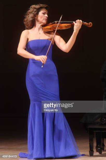 The violinist AnneSophie Mutter performing the music of Lutoslawski Schubert Penderecki Previn and SaintSaens at Carnegie Hall on Saturday night...