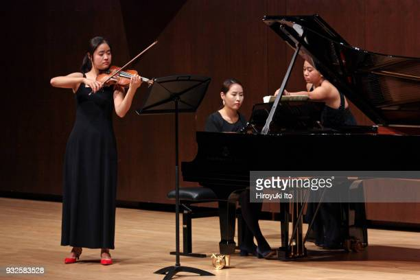 The violinist Yeri Noh and the pianist Minjung Jung performing Prokofiev's Sonata No 2 for Violin and Piano at the Juilliard School's Paul Hall on...