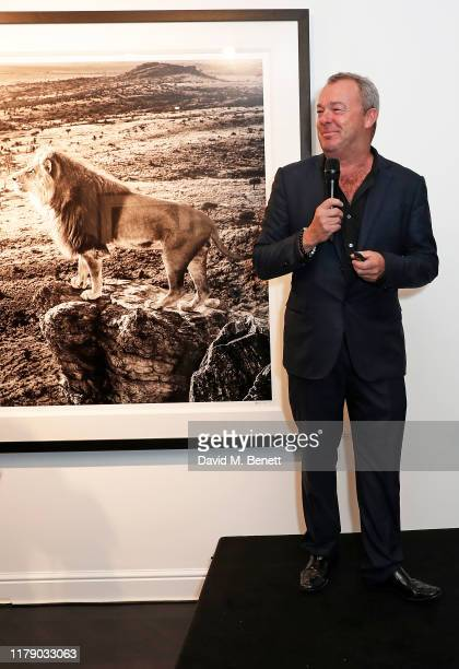 The VIP launch event for 'Pride Rock by David Yarrow' at Maddox Gallery on October 04 2019 in London England