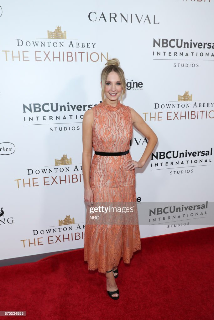 THE EXHIBITION -- The VIP Opening of Downton Abbey: The Exhibition -- Pictured: Joanne Froggatt --