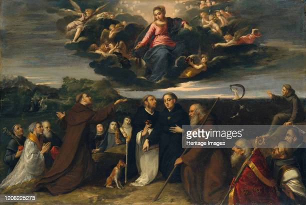 The Virgin Adored by Saints, circa 1609. Clare and Catherine of Siena, Dominic , Nicholas of Tolentino , Peter Martyr , Francis , and Raymond of...