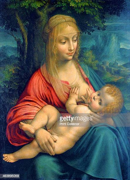 'The Virgin and Child' c1511 The design is based on two Leonardo paintings the 'Litta Madonna' and the 'Madonna of the YarnWinder' From the...
