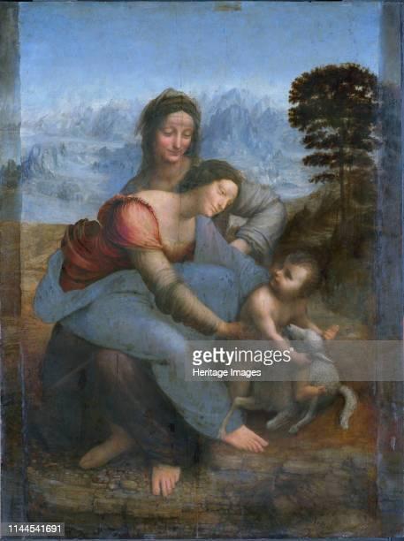 The Virgin and Child with Saint Anne circa 1508 Found in the Collection of Musée du Louvre Paris Artist Leonardo da Vinci