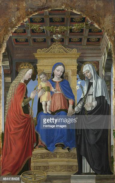 The Virgin and Child with Saint Catherine of Alexandria and Saint Catherine of Siena c 1490 Found in the collection of the National Gallery London