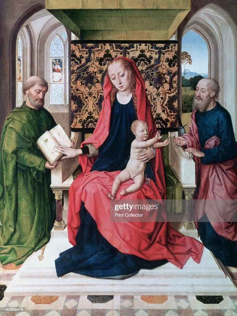 'The Virgin and Child with Saints', 1460's. Artist: Dieric Bouts : News Photo