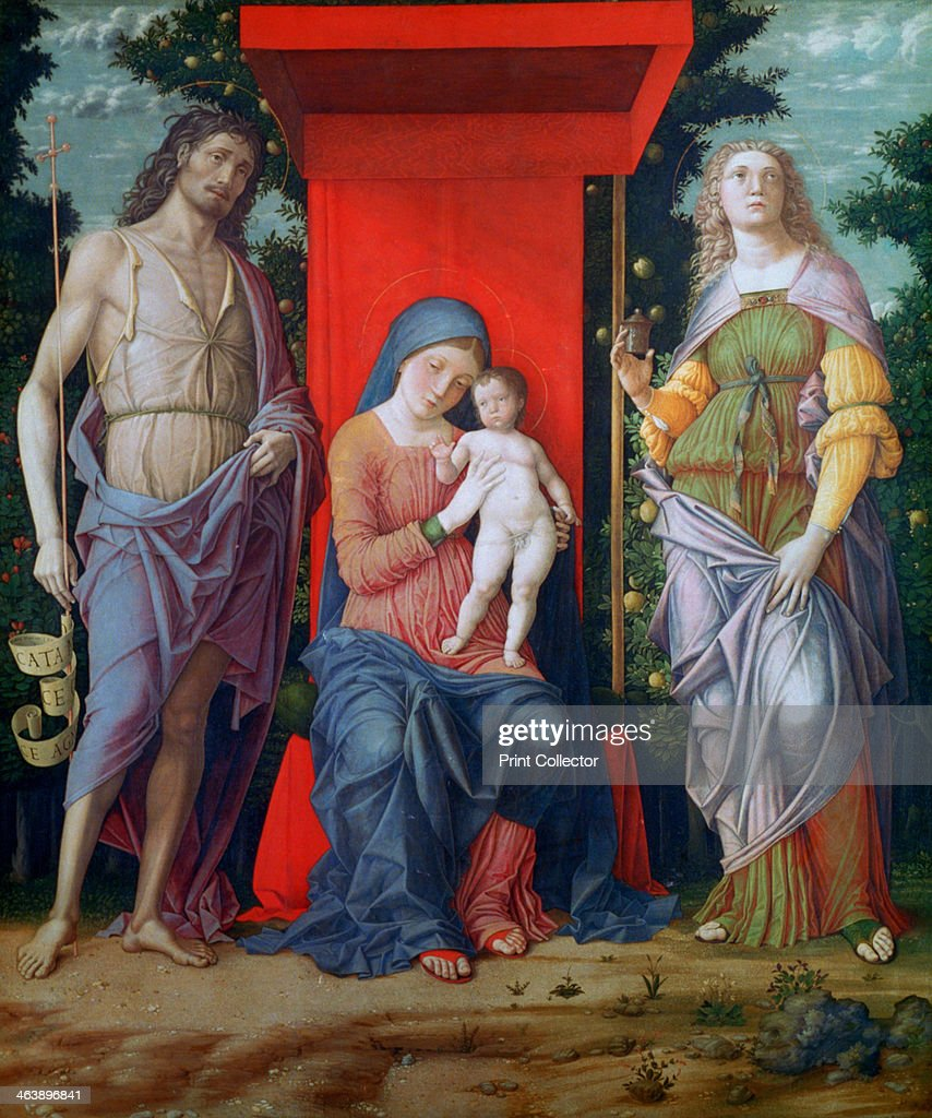 'The Virgin and Child with Saints', c1490-1505. Artist: Andrea Mantegna : News Photo