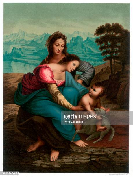 'The Virgin and Child with St Anne' c1510 Found in the collection of the Musee du Louvre Paris A print from Les Chef D'oeuvre de la Peinture...