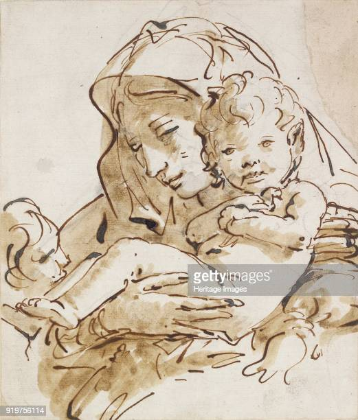 The Virgin and Child with the Infant St John circa 1770 Artist Giovanni Battista Tiepolo St John the Evangelist