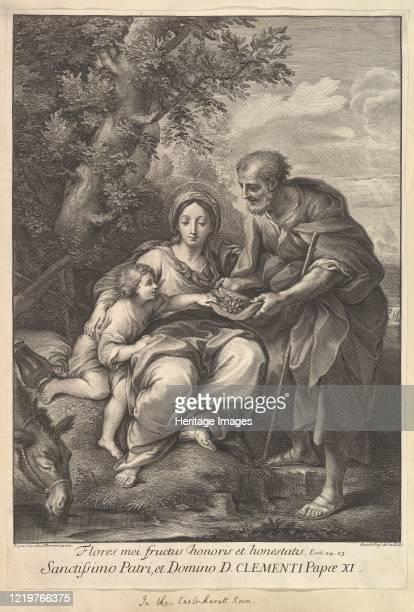 The Virgin and Joseph with the Young Jesus 171040 Artist Johann Jakob Frey the Elder