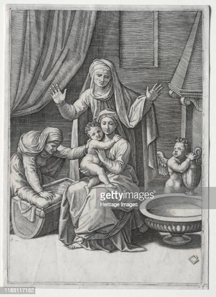 The Virgin and the Cradle with Saint Elisabeth and Saint Anne 1520 Creator Albrecht Dürer