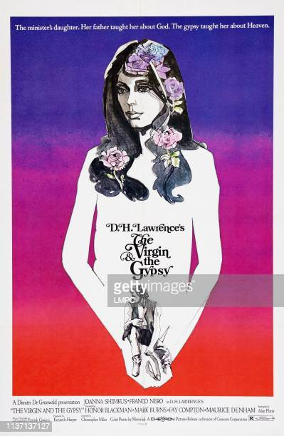 The Virgin And The Gypsy poster US poster art from top Joanna Shimkus Franco Nero 1970