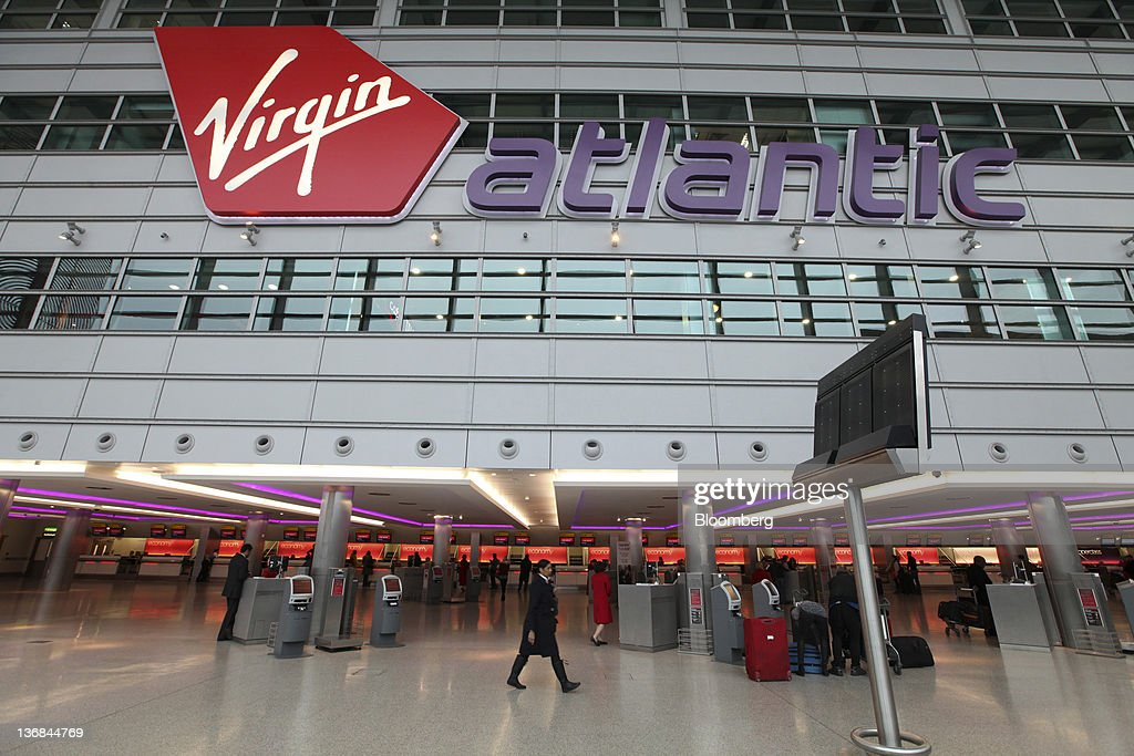 The Virgin Atlantic Airways Ltd  check-in area is seen at