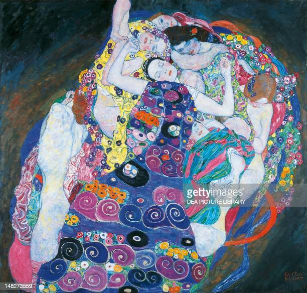 The virgin by Gustav Klimt oil on canvas 190x200 cm Prague Národní Galeri V Praze