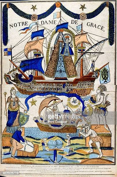 The Virgin Mary as Madonna in Glory as protector of sailors and travellers 19th century