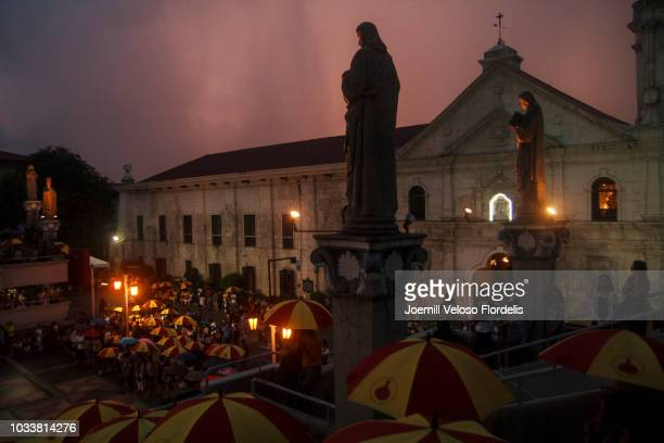 the virgin mary's birthday celebration in cebu city, philippines - cebu province stock pictures, royalty-free photos & images