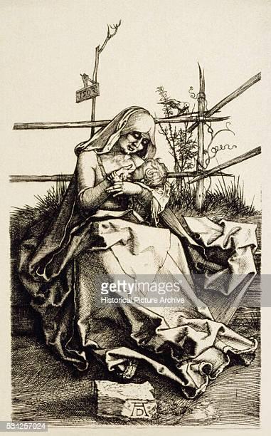 The Virgin Nursing Baby Jesus by Albrecht Durer