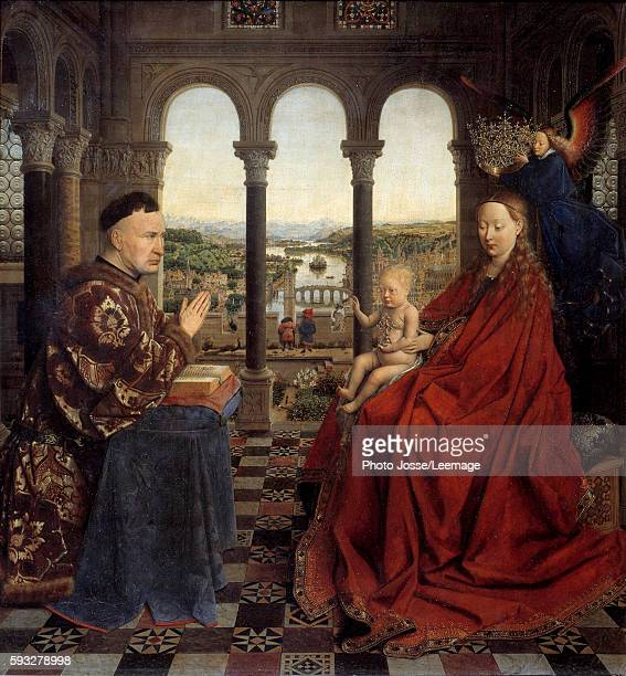 The Virgin of Chancellor Rolin Nicolas Rolin Chancellor of Burgundy under Philip the Good and founder of the HotelDieu Hospital at Beaune in 1443...