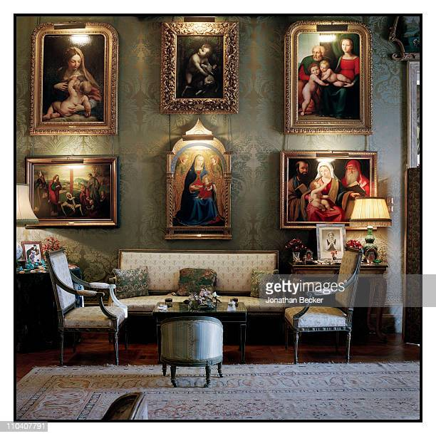 'The Virgin of Granada' by Fra Angelico is photographed in the Italian room of the Palacio de Liria for Vogue Espana on March 1517 2010 in Madrid...